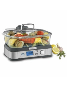 Cuisinart Stm-1000A 5L Cookfresh Digital Electric Glass Steamer with Tray & Timer