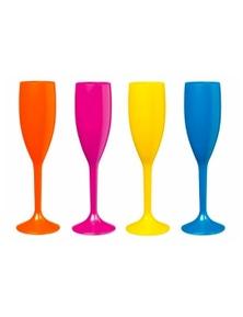 Serroni Carnivale 4 Piece Champagne Flute 210ml - Mixed