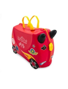 Trunki Rocco Race Car Ride On Suitcase Toy Box Kids Luggage