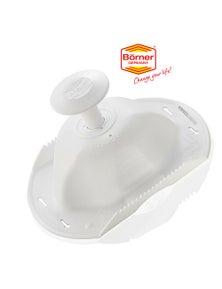 Borner White Safety Food Hat Holder Mandolin Slicer