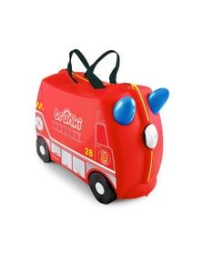 Tr0254-Gb01 Ride On Suitcase Toy Box Trunki Kids Luggage - Frank Fire Engine Trunki