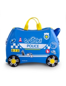 Ride On Suitcase Toy Box Trunki Kids Luggage - Percy Police