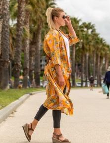 Linen Connections Pure Cotton Kimono Robe