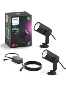 Philips Hue Outdoor Spot Light LED Lighting w/ Extension Kit