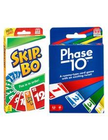 Mattel Games Skip BoPhase 10 Card Game 2pc