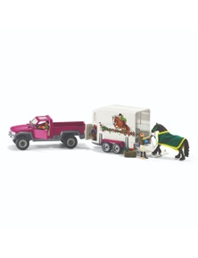 Schleich-Pick Up with Horse Box