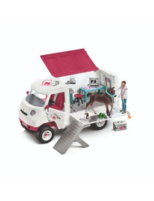 Schleich-Mobile Vet with Hanoverian Foal