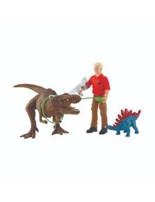 Schleich-Tyrannosaurus Rex attack