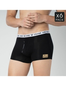 Frank and Beans 6 Pack Boxer Briefs Mens Underwear