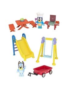 Bluey 2X Series 3 Bluey'S Playground/Family Backyard Bbq Mini Play Set