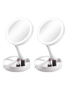 Vivitar Simply Beautiful Fold-Away Double Sided Vanity Mirror 2PK
