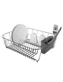 Avanti Slimline Large Dish Rack - Dark Grey