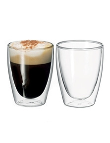 Avanti Caffe Set Of Two 250Ml Double Walled Glasses