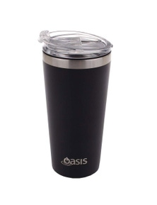 Oasis 480Ml Stainless Steel Double Wall Insulated Travel Mug Matte Black