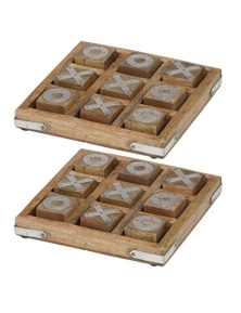 Amalfi 2Pc - 15 X 15Cm Noughts And Crosses Game