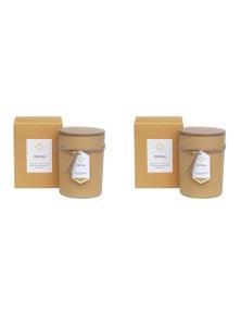 Amalfi 2Pk Scantal Soy Wax Blend Sented Candle - Citron
