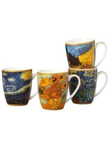 Casa Domani Impressions Van Gogh 400Ml Mugs Set Of 4