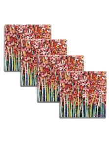 Thirstystone Pink Jonquils Coasters Set 4Pc