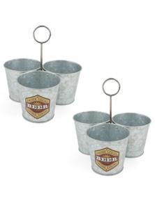 Thirstystone Galvanized Beer Snack Buckets 2Pk