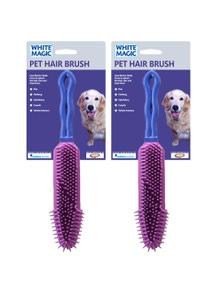White Magic Pet Hair Brush 2Pk