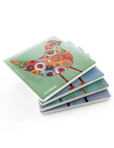 Thirstystone Birdies Coasters Set - Assorted 4Pc