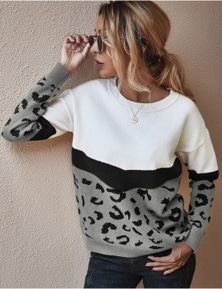 My Shop Your Shop Leopard Sweater