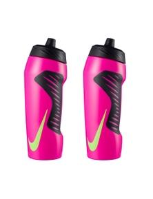 Nike Hyperfuel 710Ml Water Bottle - Fire Pink/Black/Ghost Green 2Pk