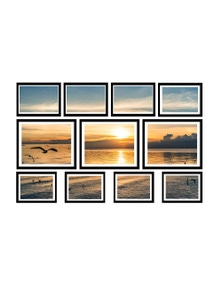 11-Piece Black Photo Frame Set