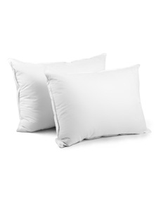 Giselle Bedding 2 x Duck Feather Down Pillows 73 x 48cm