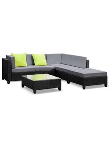 Gardeon Wicker Outdoor Lounge Setting