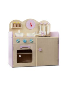 Keezi Kids 7-Piece Wooden Kitchen Set