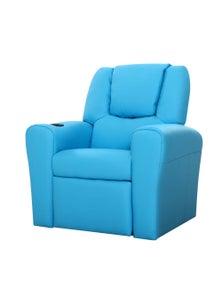 Artiss Luxury Kids Recliner Sofa Children Lounge Chair Pu Couch Armchair Blue