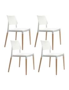 Artiss 4x Belloch Replica Dining Chairs - White