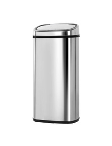 Devanti 68L Stainless Steel Touch Free Motion Sensor Rubbish Bin