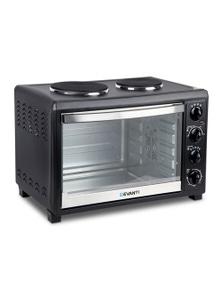 DEVANTI Convection Oven Electric 45L Hotplate - Black