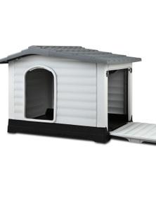 I.Pet Outdoor Extra Large Plastic Dog Kennel - Grey