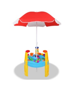 Keezi Kids Sand and Water Table Play Set with Umbrella