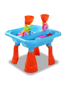 Kids Sand and Water Table Play Set - Blue/Red