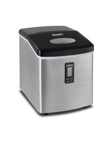 Devanti 3.2L Ice Maker Portable Stainless Steel Ice Cube Machine - Silver