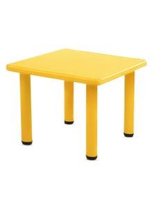 Keezi Kids Children Painting Plastic Desk - Yellow Table 60X60Cm