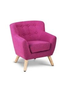 Artiss Keezi Kids Sofa Armchair Fabric Furniture Lorraine French Couch Children Pink