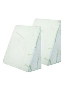 Giselle Bedding 2x Memory Foam Wedge Pillow Large - Beige