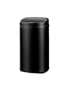 Devanti 58L Stainless Steel Touch Free Motion Sensor Rubbish Bin - Black