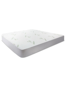 Giselle Bedding Waterproof Mattress Protector Bamboo Fibre Single Fully Fitted Bed Pad Cover