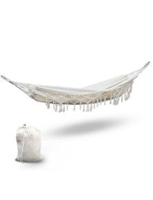 Gardeon Hammock Tassel Swing Chair - Cream