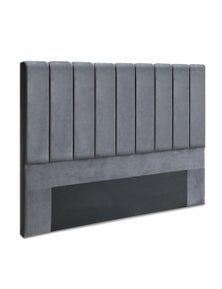 Artiss KING Size Headboard Bedhead Velvet Frame Base VELA Grey