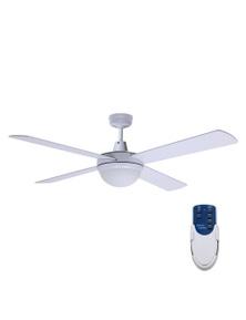 Devanti 1300mm 52'' Ceiling Fan withLight Remote Control - White