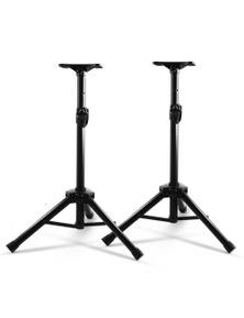 Alpha Set of 2 120CM Surround Sound Speaker Stand - Black 50KG Capacity
