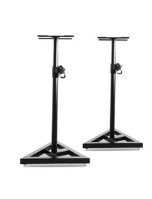 Alpha Set of 2 120CM Surround Sound Speaker Stand - Black 30KG Capacity