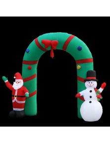 Jingle Jollys Inflatable Christmas 2.8M Giant Arch Way Santa Snowman